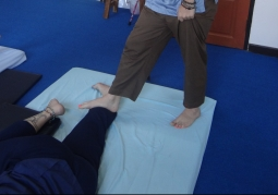Practicing Barefoot Thai massage